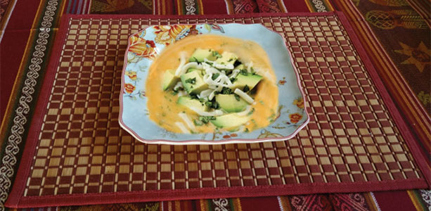 White Potato Sweet Soup with Cheese Gloria Gilbere