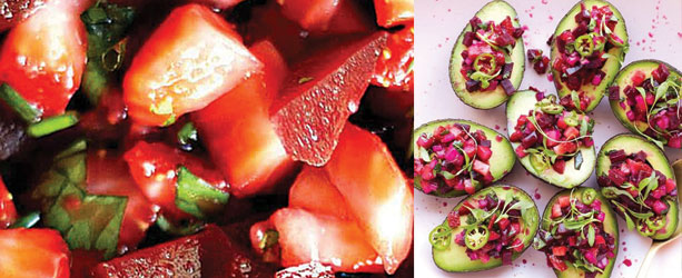 berries and avacados