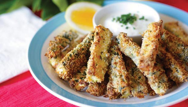 baked parmesan crusted zucchini fries dipping sauce