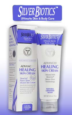 Silver Biotics Advanced Healing Skin Cream Lavender