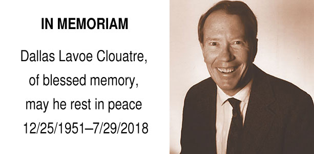 In Memoriam of Dallas Clouatre, PhD